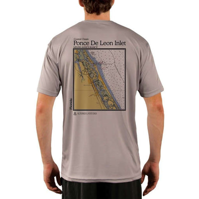 Coastal Classics Ponce De Leon Inlet Mens Upf 5+ Uv/sun Protection Performance T-Shirt Athletic Grey / X-Small Shirt