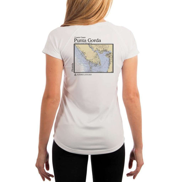 Coastal Classics Punta Gorda Womens Upf 5+ Uv/sun Protection Performance T-Shirt White / X-Small Shirt