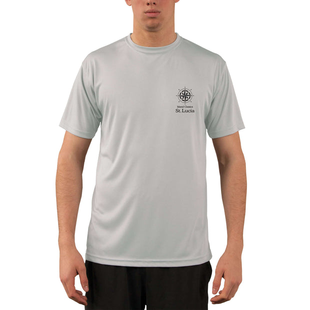 Island Classics St. Lucia Men's UPF 50+ UV Sun Protection Short Sleeve T-shirt