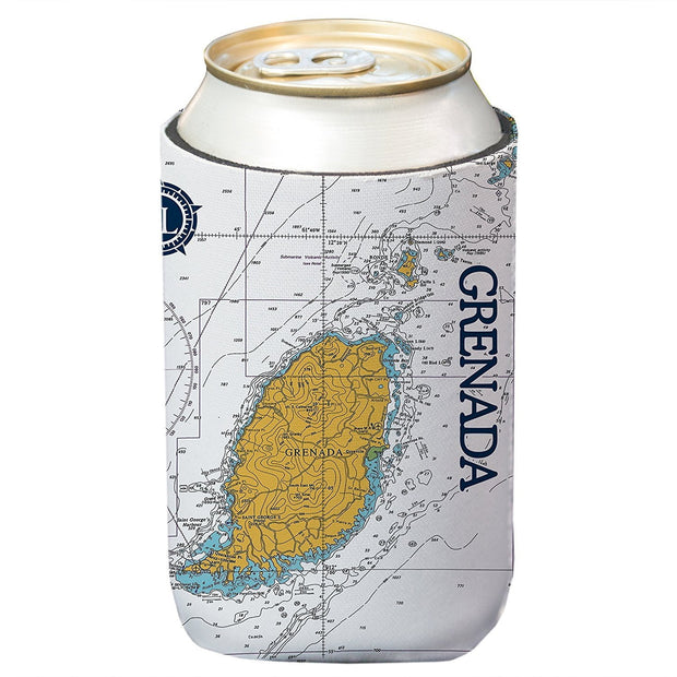 Altered Latitudes Grenada Chart Standard Can Cooler (4-Pack)