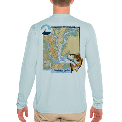 Fish Charts Charleston Men's UPF 50+ Long Sleeve T-Shirt