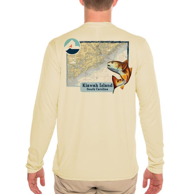 Fish Charts Kiawah Men's UPF 50+ Long Sleeve T-Shirt
