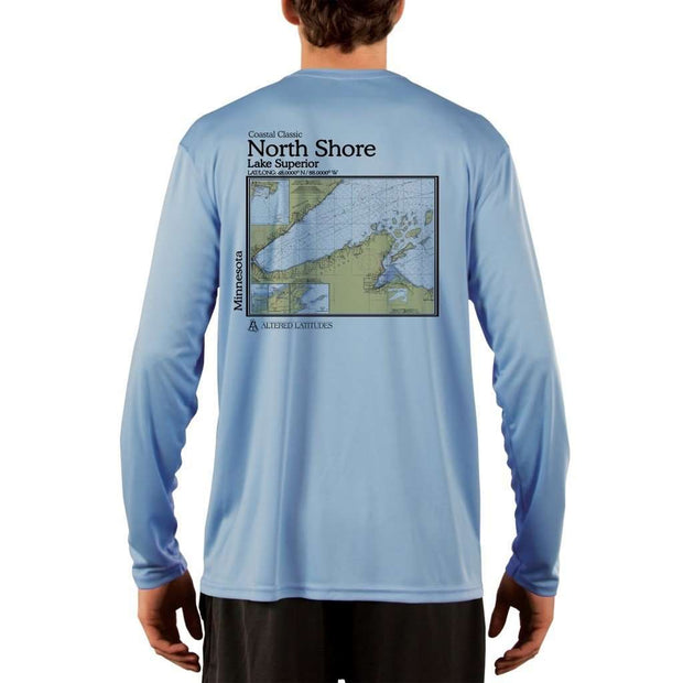 Coastal Classics North Shore Mens Upf 5+ Uv/sun Protection Performance T-Shirt Columbia Blue / X-Small Shirt