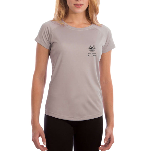 Island Classics St. Lucia Women's UPF 50+ UV Sun Protection Short Sleeve T-shirt