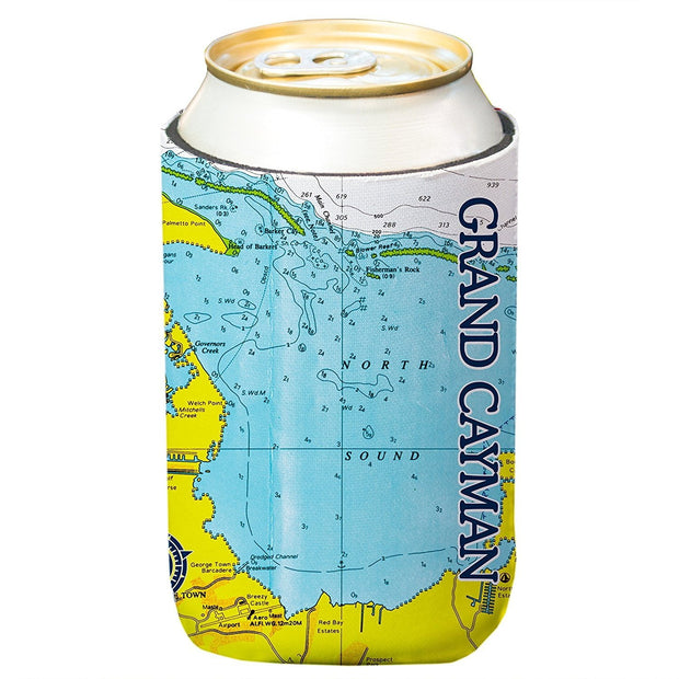 Altered Latitudes Grand Cayman Chart Standard Can Cooler (4-Pack)