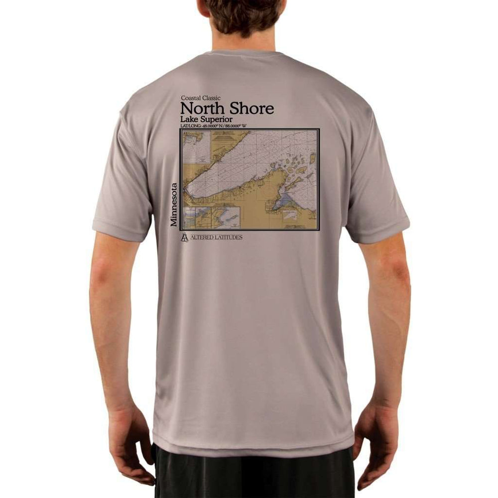 Coastal Classics North Shore Mens Upf 5+ Uv/sun Protection Performance T-Shirt Athletic Grey / X-Small Shirt