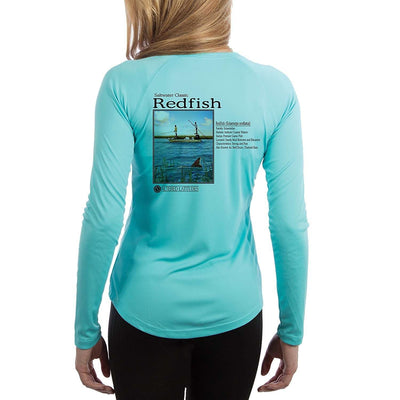 Saltwater Classic Redfish Women's UPF 50+ Long Sleeve T-shirt