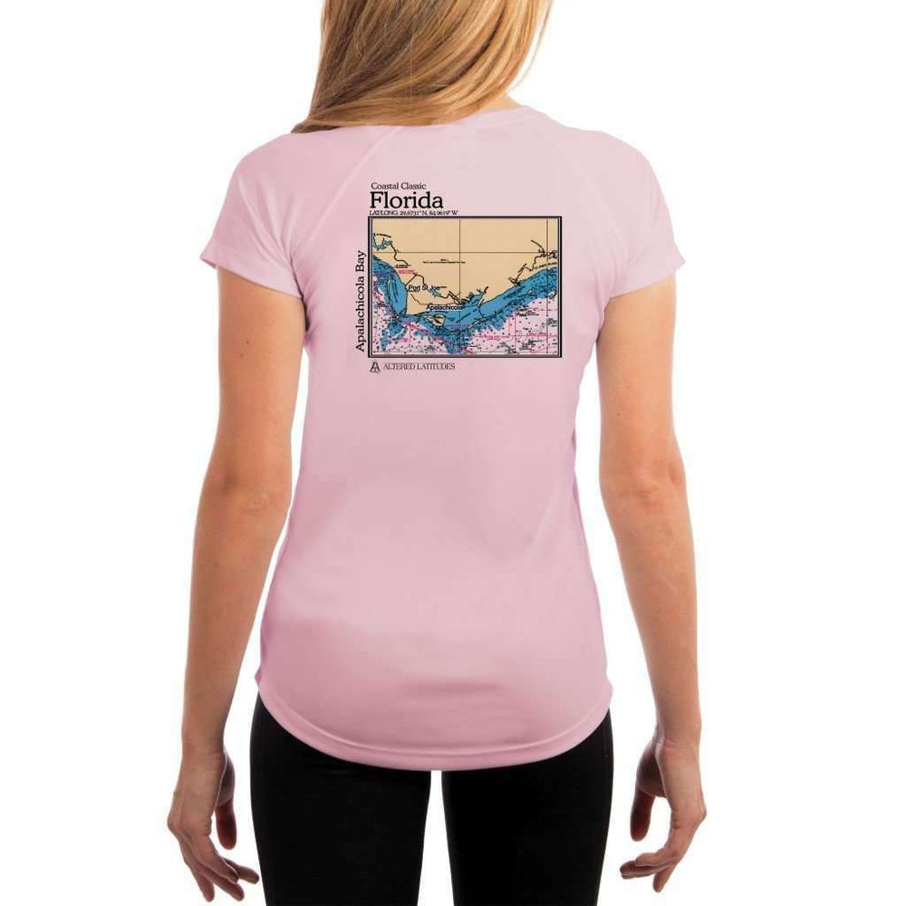 Coastal Classics Apalachicola Bay Womens Upf 5+ Uv/sun Protection Performance T-Shirt Pink Blossom / X-Small Shirt