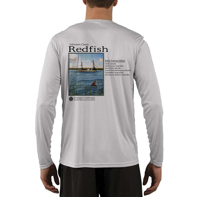 Saltwater Classic Redfish Men's UPF 50+ UV/Sun Protection Long Sleeve T-Shirt