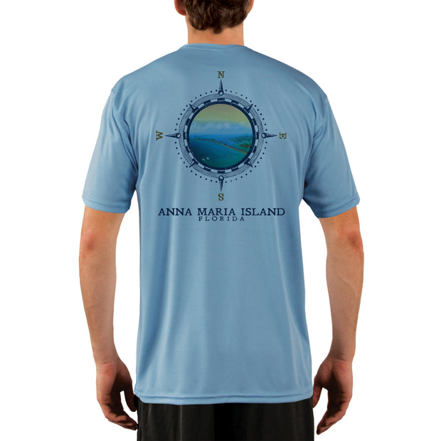 Compass Vintage Anna Maria Island Men's UPF 50+ Short Sleeve T-shirt