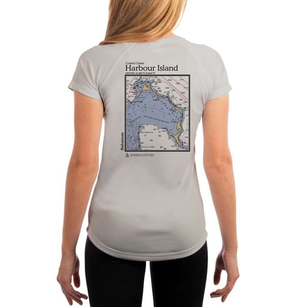 Coastal Classics Harbour Island Womens Upf 5+ Uv/sun Protection Performance T-Shirt Pearl Grey / X-Small Shirt