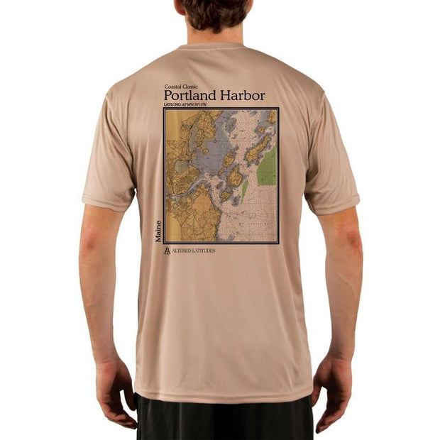 Coastal Classics Portland Harbor Mens Upf 5+ Uv/sun Protection Performance T-Shirt Tan / X-Small Shirt