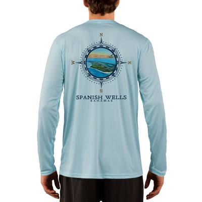 Compass Vintage Spanish Wells Men's UPF 50+ Long Sleeve T-Shirt