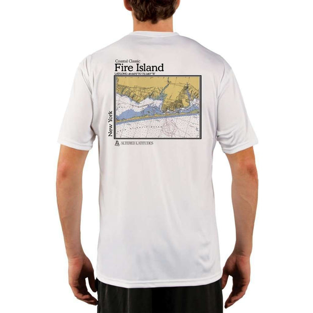 Coastal Classics Fire Island Mens Upf 5+ Uv/sun Protection Performance T-Shirt White / X-Small Shirt