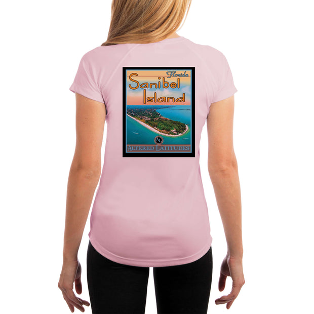 Vintage Destination Sanibel Island Women's UPF 5+ UV Sun Protection Short Sleeve T-shirt - Altered Latitudes