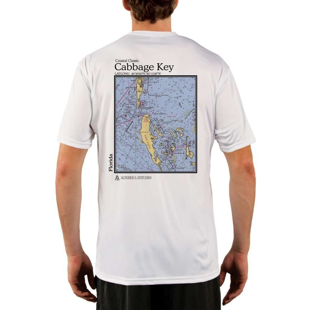 Coastal Classics Cabbage Key Mens Upf 50+ Uv/sun Protection Performance T-Shirt White / X-Small Shirt