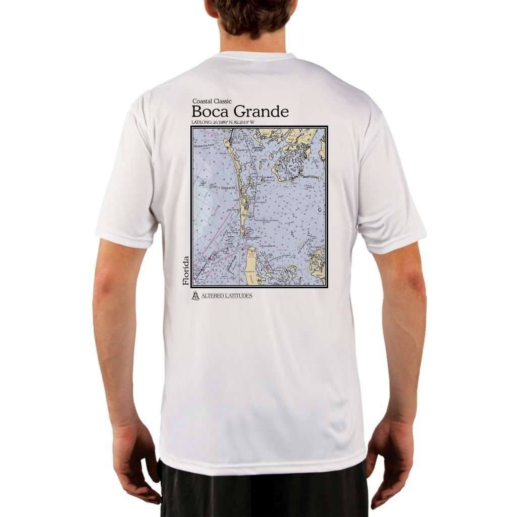 Coastal Classics Boca Grande Mens Upf 50+ Uv/sun Protection Performance T-Shirt White / X-Small Shirt