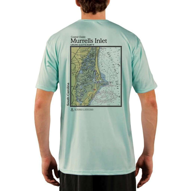 Coastal Classics Murrells Inlet Mens Upf 5+ Uv/sun Protection Performance T-Shirt Seagrass / X-Small Shirt