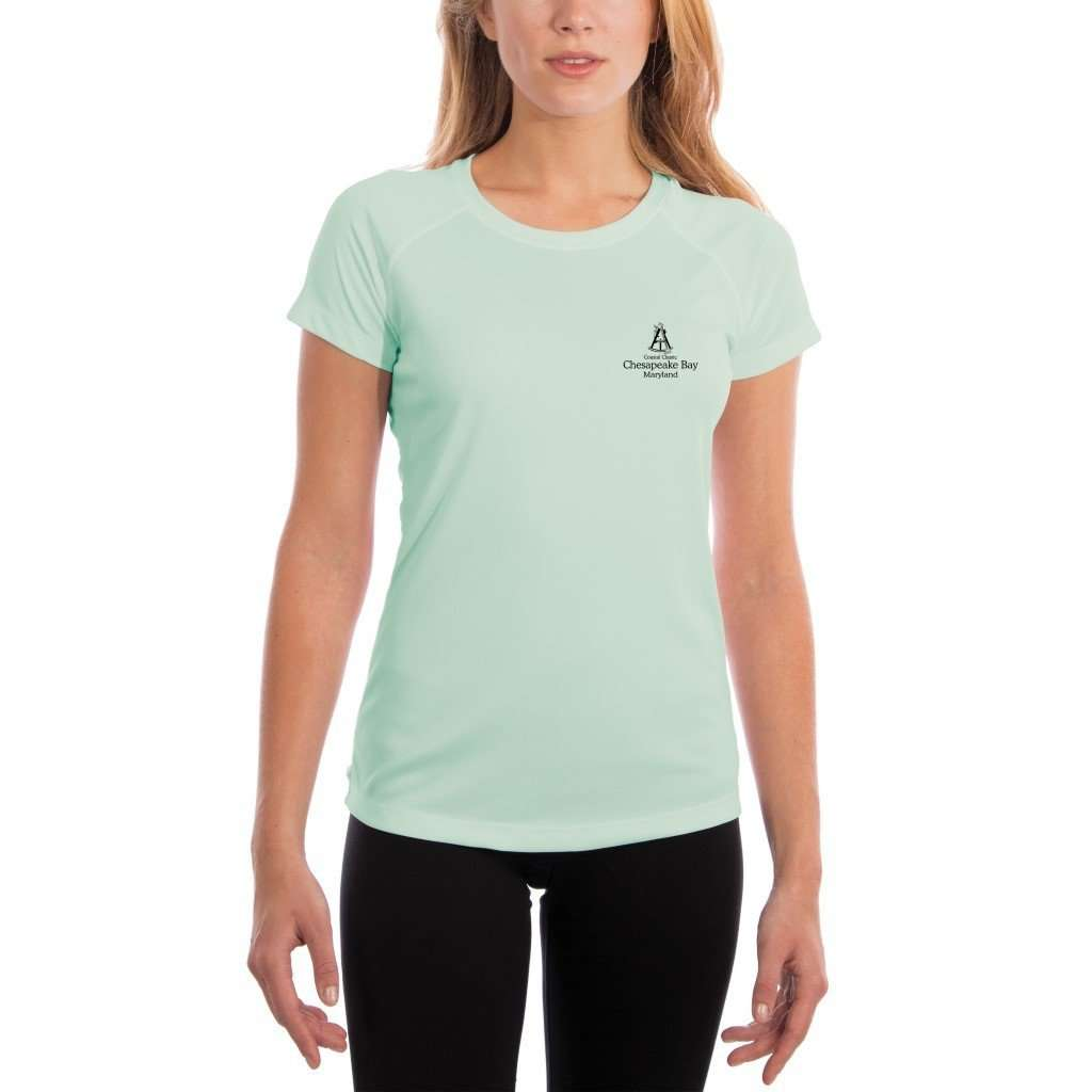 Coastal Classics Chesapeake Bay Womens Upf 50+ Uv/sun Protection Performance T-Shirt Shirt