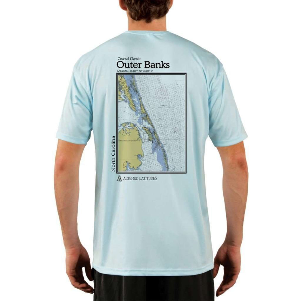 Coastal Classics Outer Banks Mens Upf 5+ Uv/sun Protection Performance T-Shirt Arctic Blue / X-Small Shirt