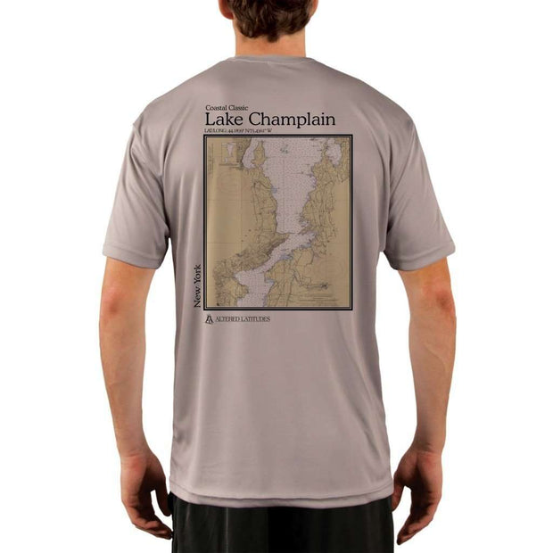 Coastal Classics Lake Champlain Mens Upf 5+ Uv/sun Protection Performance T-Shirt Athletic Grey / X-Small Shirt