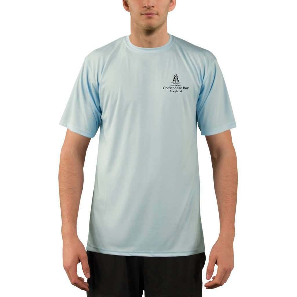 Coastal Classics Chesapeake Bay Mens Upf 50+ Uv/sun Protection Performance T-Shirt Shirt