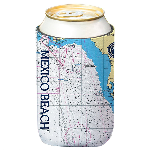 Altered Latitudes Mexico Beach Chart Standard Can Cooler (4-Pack)