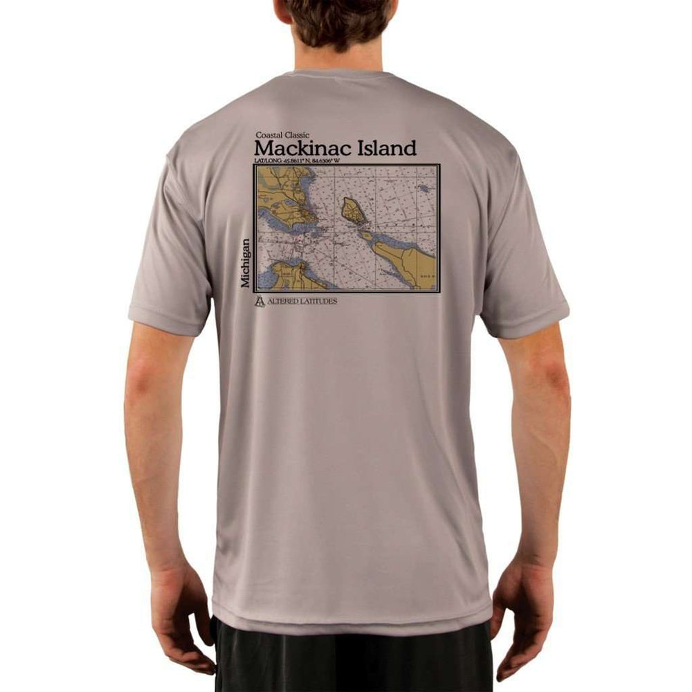 Coastal Classics Mackinac Island Mens Upf 5+ Uv/sun Protection Performance T-Shirt Athletic Grey / X-Small Shirt