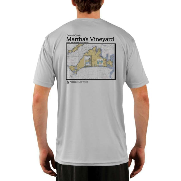 Coastal Classics Marthas Vineyard Mens Upf 5+ Uv/sun Protection Performance T-Shirt Pearl Grey / X-Small Shirt