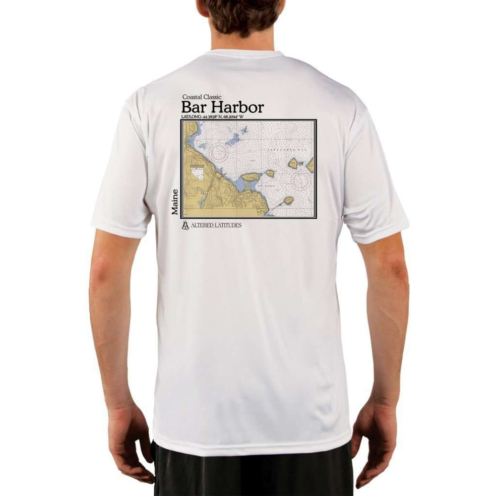 Coastal Classics Bar Harbor Mens Upf 5+ Uv/sun Protection Performance T-Shirt White / X-Small Shirt