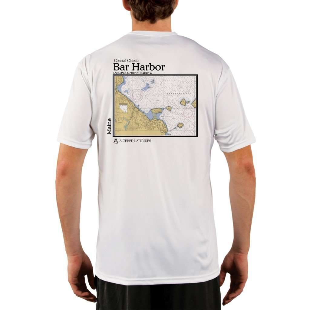 Coastal Classics Bar Harbor Mens Upf 50+ Uv/sun Protection Performance T-Shirt White / X-Small Shirt