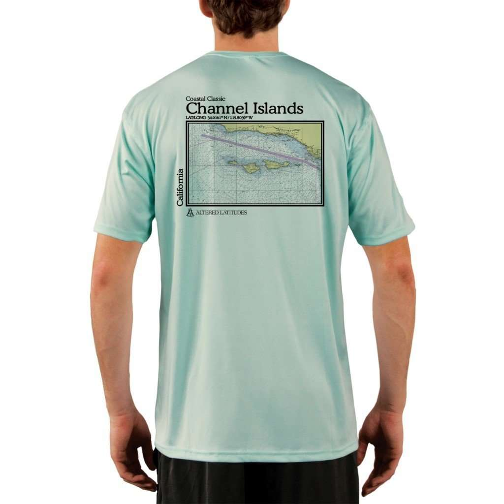 Coastal Classics Channel Islands Mens Upf 50+ Uv/sun Protection Performance T-Shirt Seagrass / X-Small Shirt