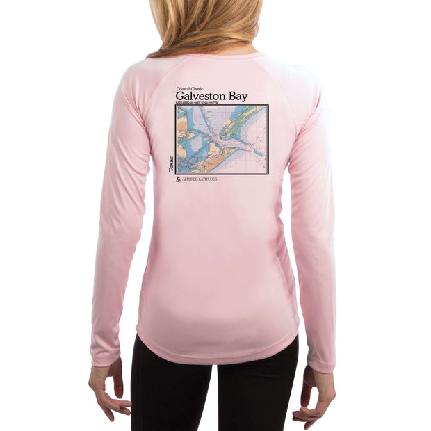 Coastal Classics Galveston Chart Women's UPF 50+ Long Sleeve T-shirt - Altered Latitudes