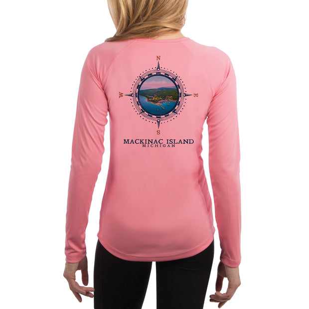 Compass Vintage Mackinac Island Women's UPF 50+ Long Sleeve T-shirt