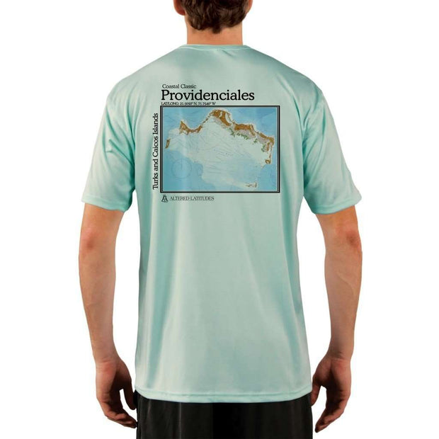 Coastal Classics Providenciales Mens Upf 5+ Uv/sun Protection Performance T-Shirt Seagrass / X-Small Shirt
