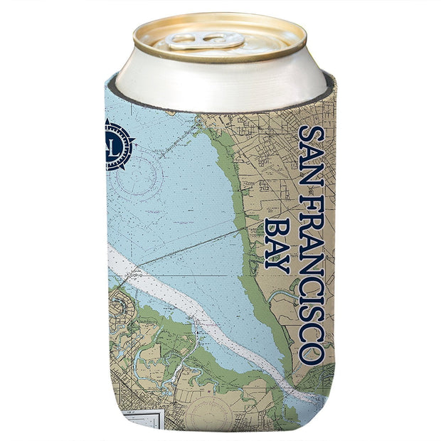 Altered Latitudes San Francisco Bay Chart Standard Can Cooler (4-Pack)