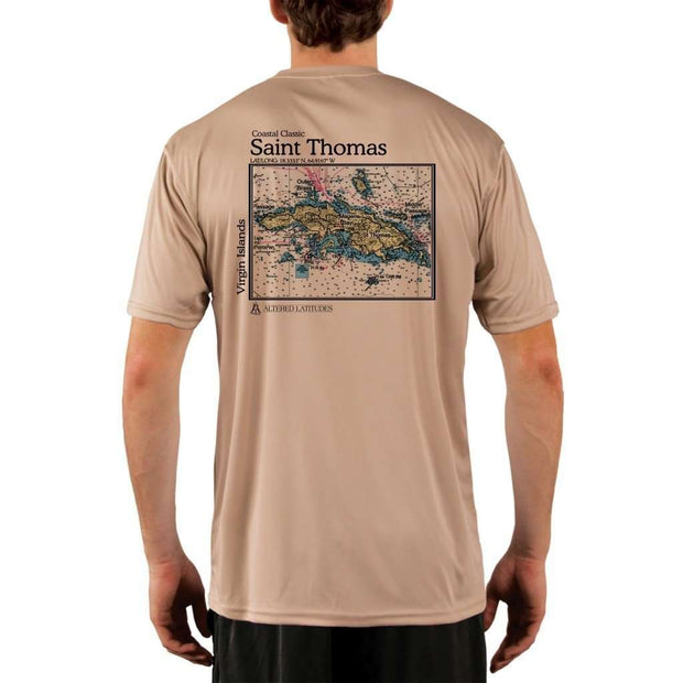 Coastal Classics Saint Thomas Mens Upf 5+ Uv/sun Protection Performance T-Shirt Tan / X-Small Shirt