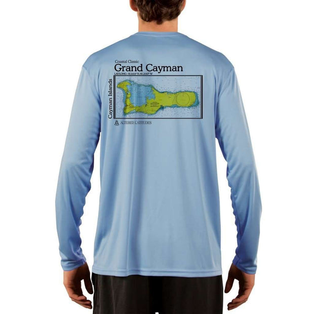 Coastal Classics Grand Cayman Mens Upf 5+ Uv/sun Protection Performance T-Shirt Columbia Blue / X-Small Shirt