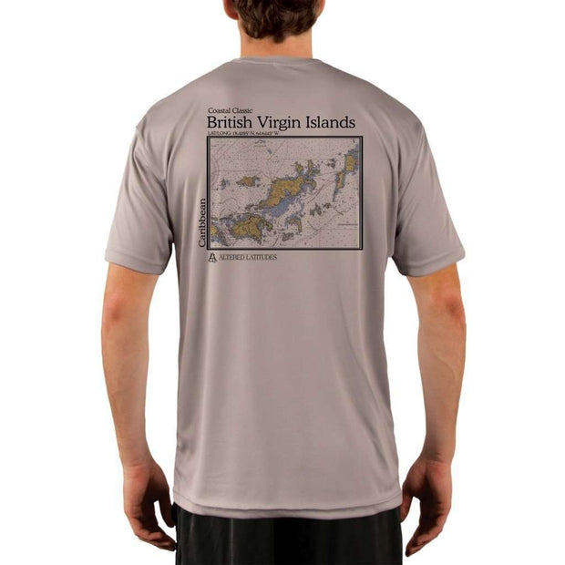 Coastal Classics British Virgin Islands Mens Upf 5+ Uv/sun Protection Performance T-Shirt Athletic Grey / X-Small Shirt