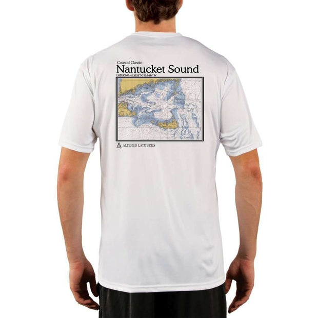 Coastal Classics Nantucket Sound Mens Upf 5+ Uv/sun Protection Performance T-Shirt White / X-Small Shirt