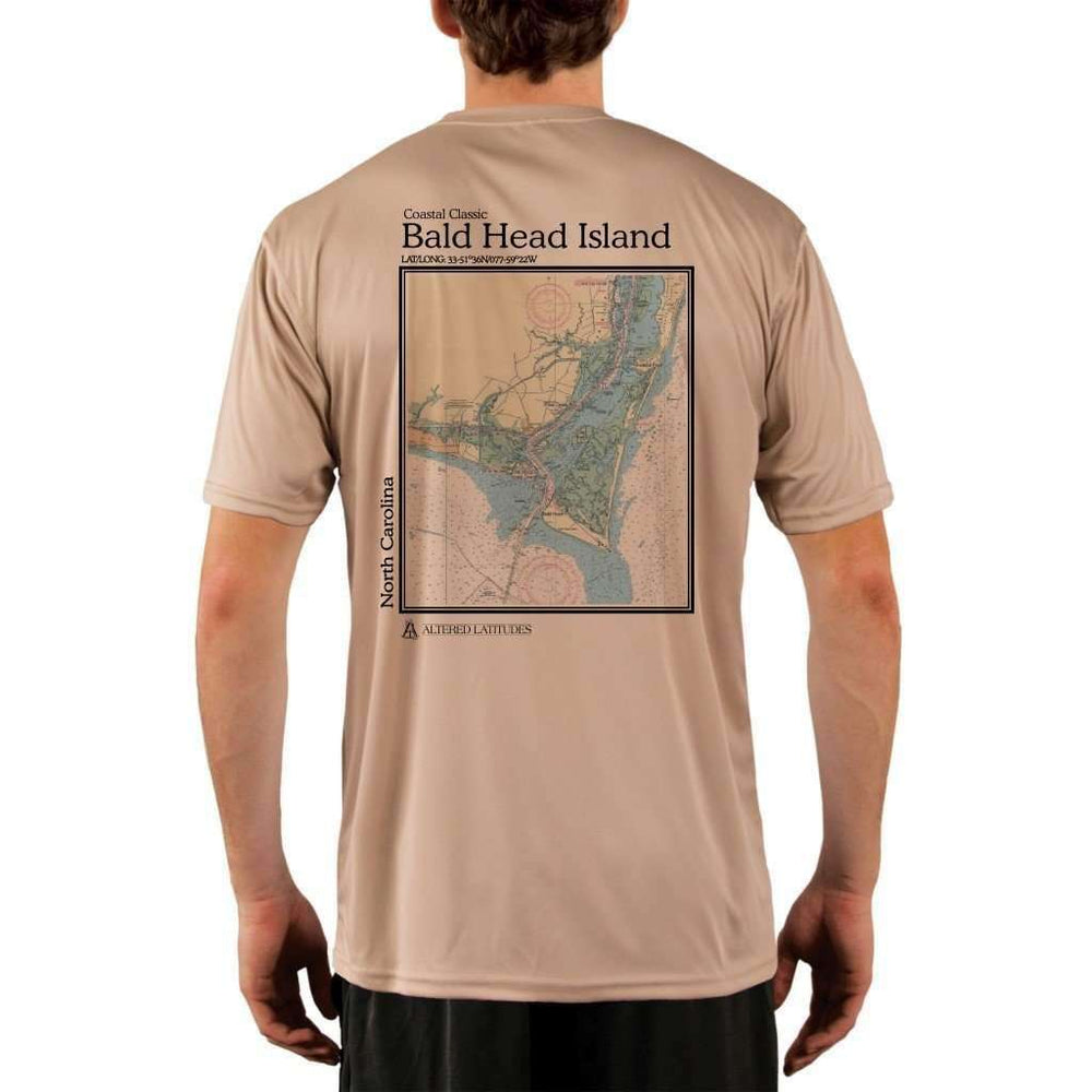 Coastal Classics Bald Head Island Mens Upf 5+ Uv/sun Protection Performance T-Shirt Tan / X-Small Shirt
