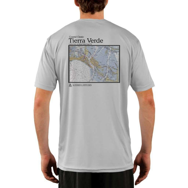 Coastal Classics Tierra Verde Mens Upf 5+ Uv/sun Protection Performance T-Shirt Pearl Grey / X-Small Shirt