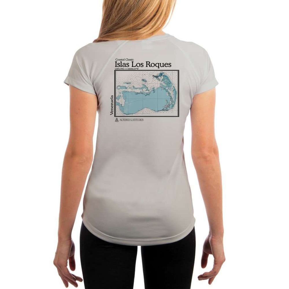 Coastal Classics Islas Los Roques Womens Upf 5+ Uv/sun Protection Performance T-Shirt Pearl Grey / X-Small Shirt