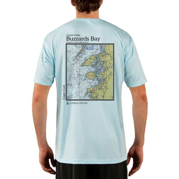 Coastal Classics Buzzards Bay Mens Upf 5+ Uv/sun Protection Performance T-Shirt Arctic Blue / X-Small Shirt