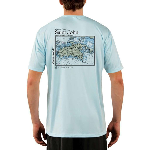Coastal Classics Saint John Mens Upf 5+ Uv/sun Protection Performance T-Shirt Arctic Blue / X-Small Shirt