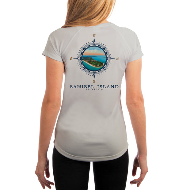 Compass Vintage Sanibel Island Women's UPF 50+ Short Sleeve T-shirt