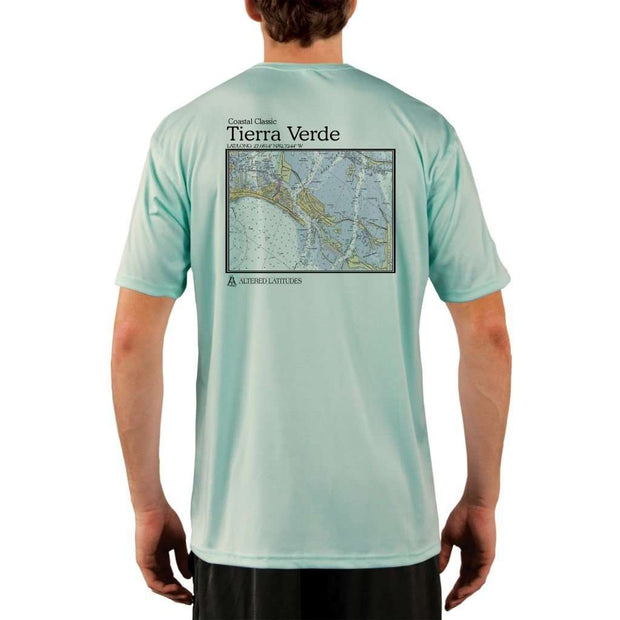 Coastal Classics Tierra Verde Mens Upf 5+ Uv/sun Protection Performance T-Shirt Seagrass / X-Small Shirt