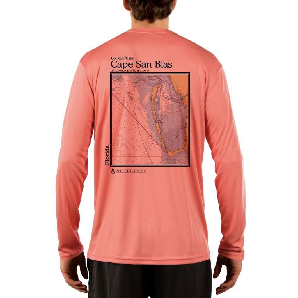 Coastal Classics Cape San Blas Mens Upf 50+ Uv/sun Protection Performance T-Shirt Salmon / X-Small Shirt
