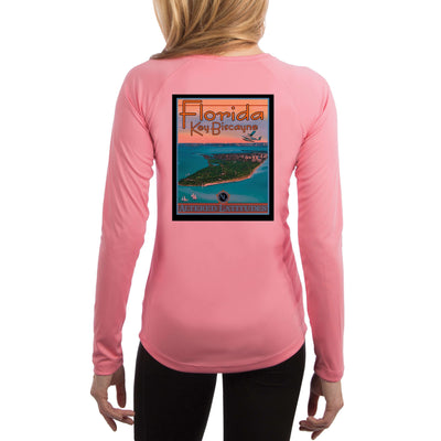 Vintage Destination Key Biscayne Women's UPF 5+ UV Sun Protection Long Sleeve T-shirt - Altered Latitudes