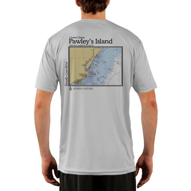 Coastal Classics Pawleys Island Mens Upf 5+ Uv/sun Protection Performance T-Shirt Pearl Grey / X-Small Shirt